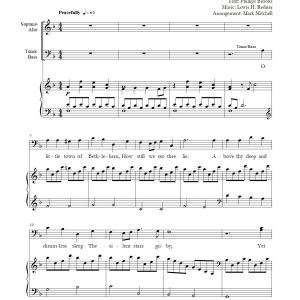 O Little Town of Bethlehem SATB