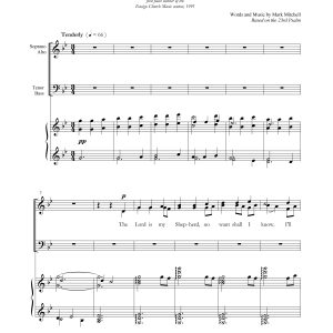 The Lord Is My Shepherd (Mitchell) SATB
