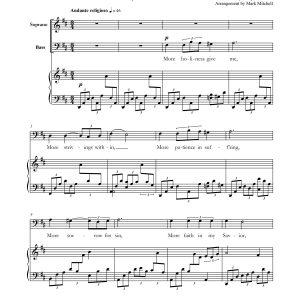 More Holiness Give Me – Baritone, Soprano and Piano