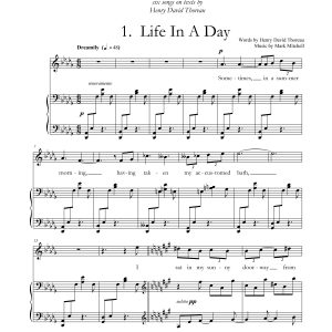 Walden: A Song Cycle for Soprano and Piano