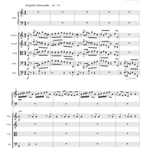 Concerto for Celtic Harp and Strings – Full Score