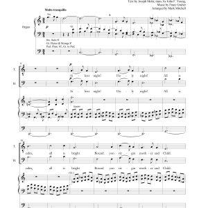 Silent Night SATB and Organ